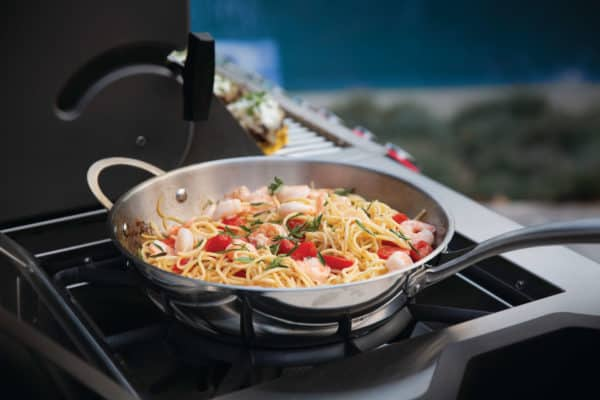 Prestige pro825 3 life shrimp and pasta on side burner scaled image on safe home fireplace website