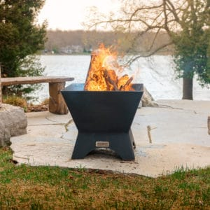 Iron embers modern cube fire pit | safe home fireplace: london & strathroy ontario