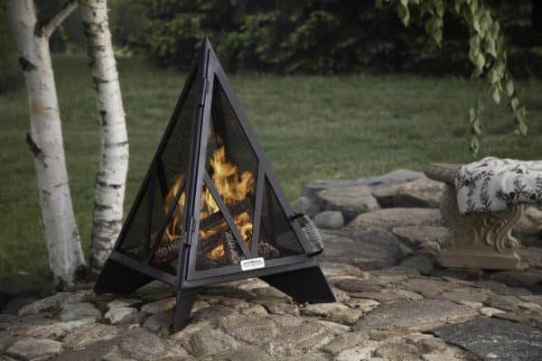 Iron embers pyramid fireplace | safe home fireplace: london & strathroy ontario