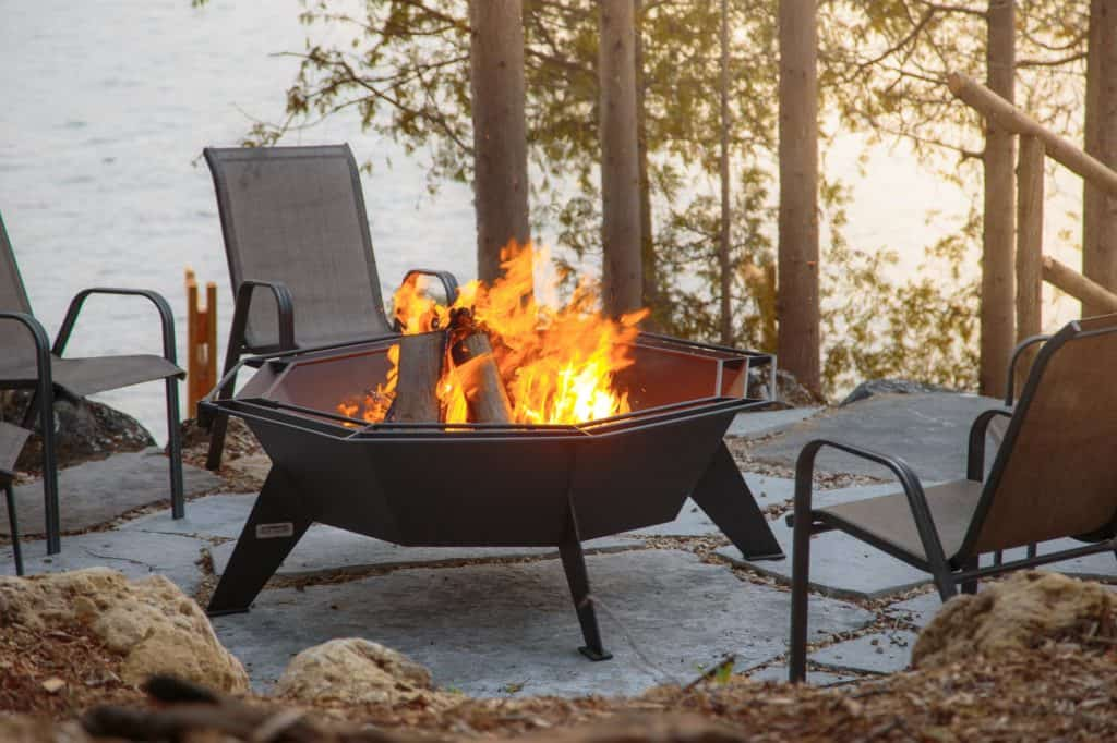 Iron embers octagonal cottager fire pit   safe home fireplace: strathroy & london ontario