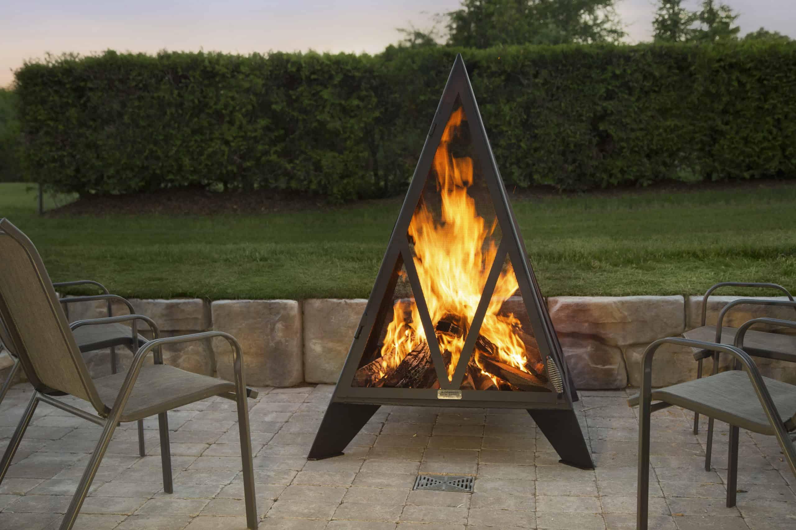 Iron Embers Pyramid Fireplace - Safe Home Fireplace
