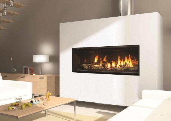 C44 porcelain rock log room 1 image on safe home fireplace website