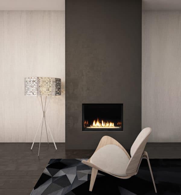 "Marquis skyline 36"" gas fireplace with glass media"