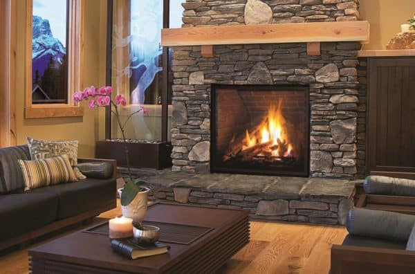 Enviro Q4 Gas Fireplace with Brick Liner