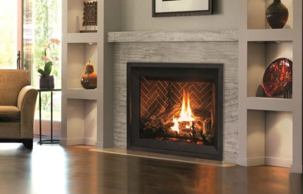 Enviro Q4 Gas Fireplace with Herringbone Liner