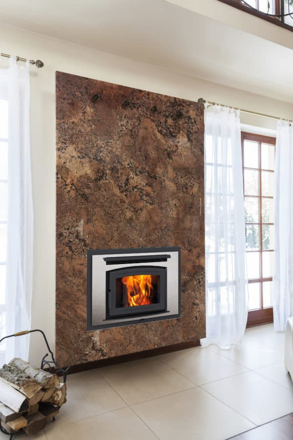 Pacific energy fp25 arch wood fireplace