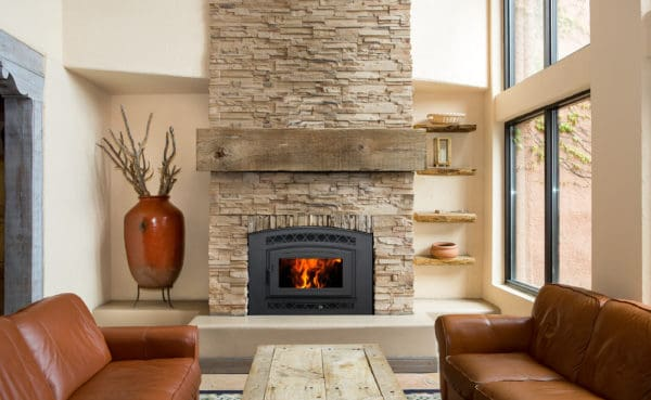 Pacific energy fp30 arch craftsman wood fireplace