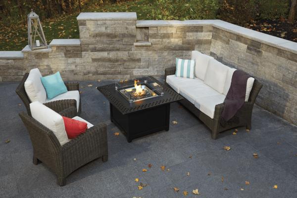 Napoleon kensington square patioflame table | safe home fireplace: london & strathroy, on