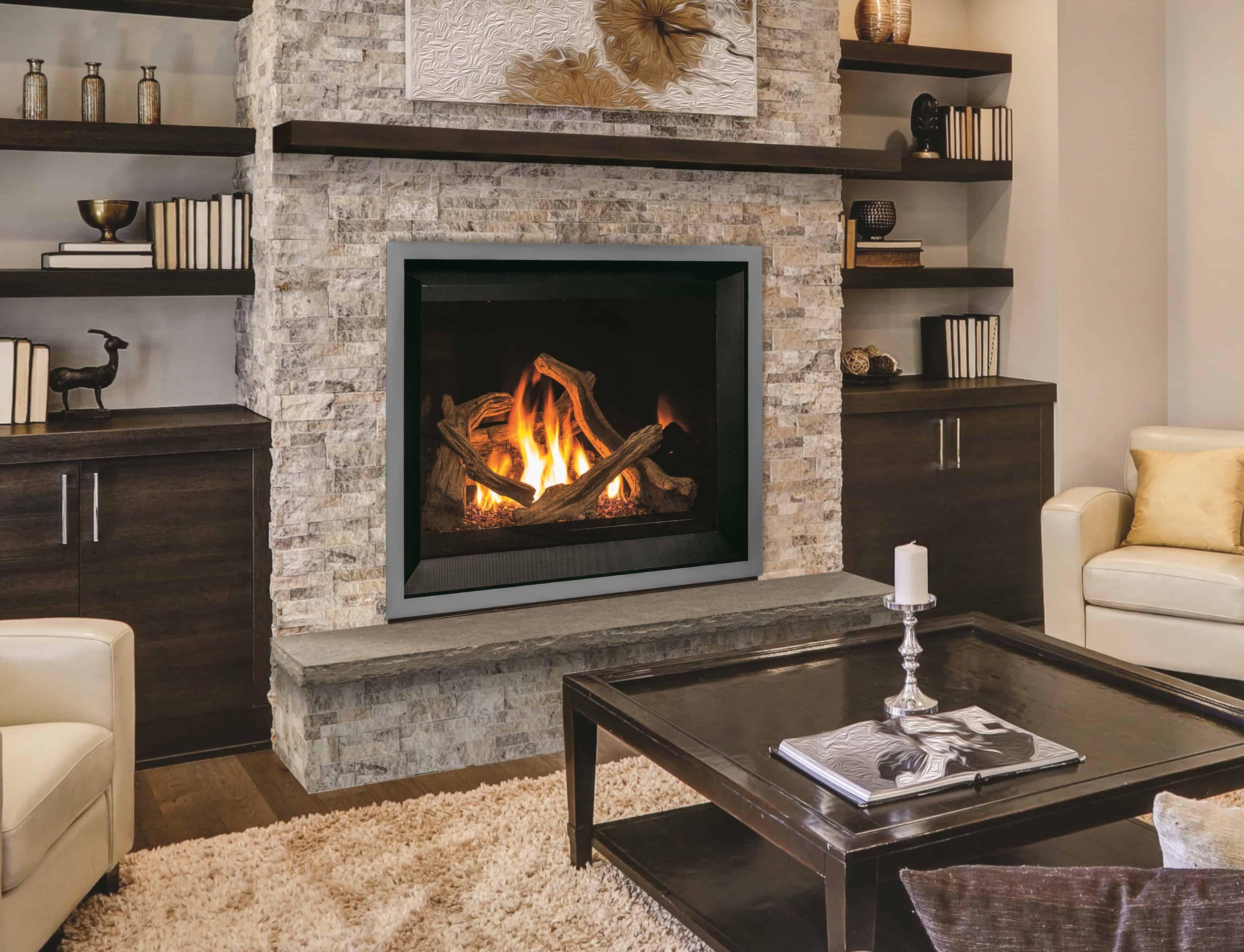 Corina Electric Fireplace w/ Faux Marble, Walnut - Walmart