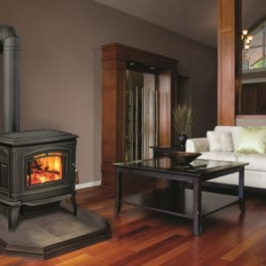 Enviro Boston 1700 wood stove in room