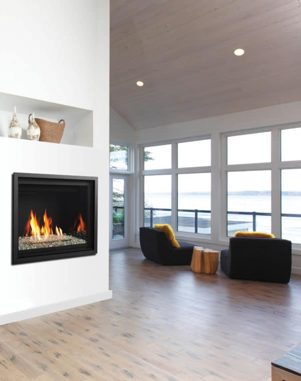 Marquis bentley 39 gas fireplace with glass burner