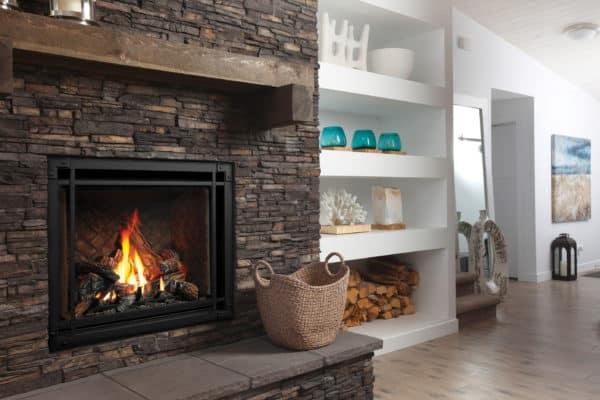Marquis bentley 39 gas fireplace with designer door surround
