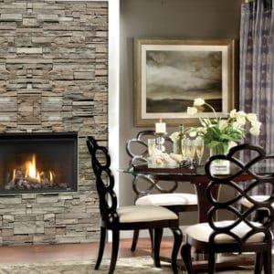 Marquis Solara 33 gas fireplace with oak log set