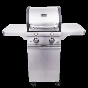 Saber 2-Burner Cast Stainless Gas Grill