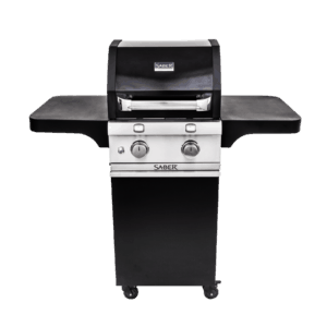 Saber 2-Burner Cast Black Gas Grill