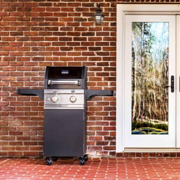 Saber 2-burner cast black gas grill