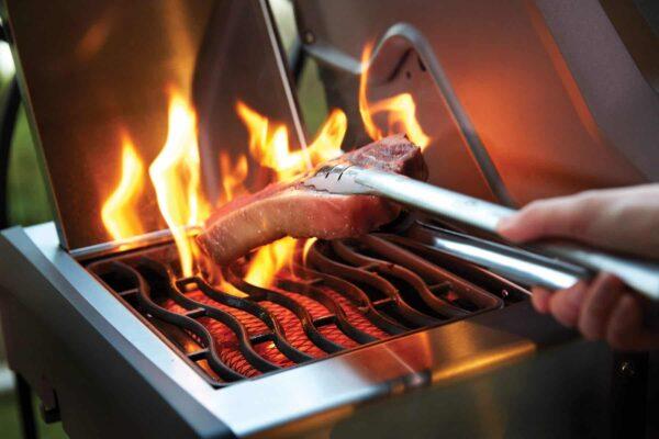 R425sib side burner steak napoleon grills 4 image on safe home fireplace website