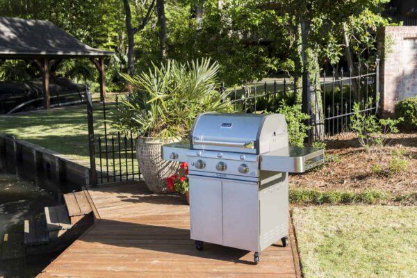 Saber 3-burner cast stainless gas grill