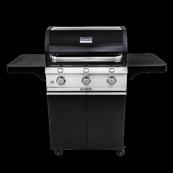 Saber 3-burner cast black gas grill
