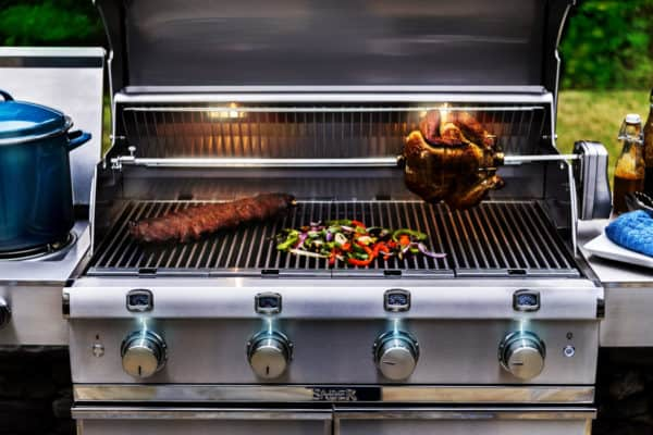 Saber elite 4-burner stainless steel gas grill