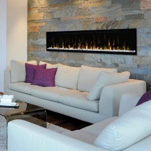 "Dimplex ignite xl 74"" linear electric fireplace 