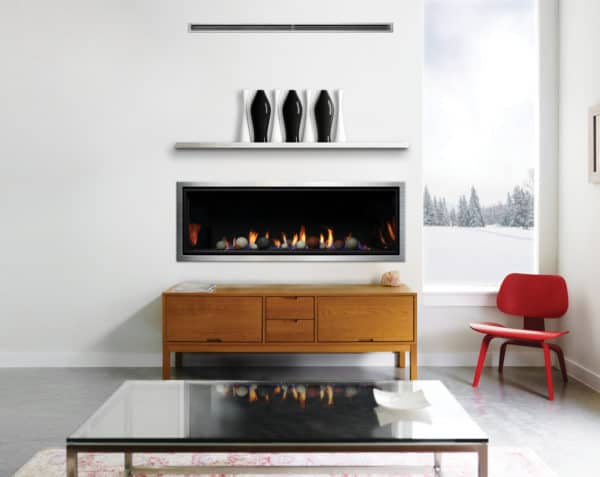 "Marquis serene 60"" linear gas fireplace"