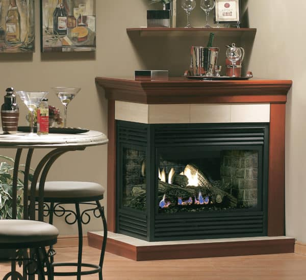 Marquis gemini corner gas fireplace