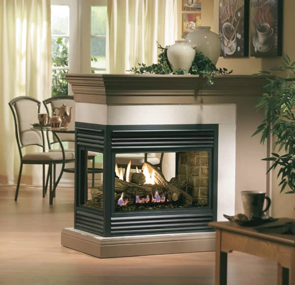 Marquis gemini peninsula gas fireplace