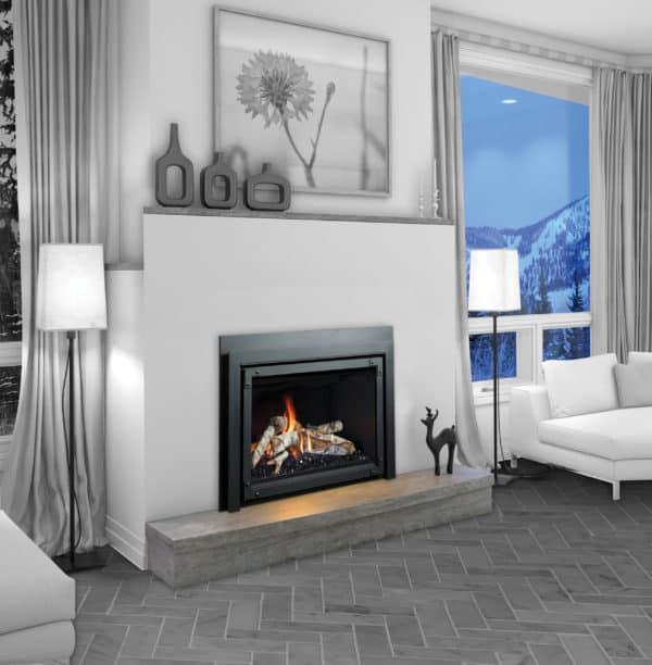 Marquis Capri 34 gas fireplace insert with birch log set