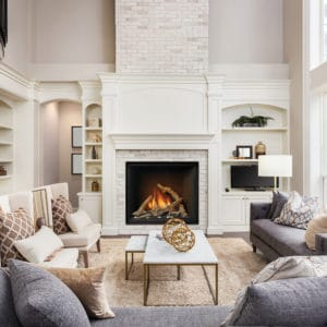 Marquis Bentley 48 Gas Fireplace | This fireplace features an extra large viewing area and five different media options to choose from | Safe Home Fireplace in London and Strathroy Ontario