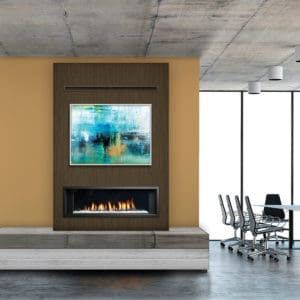 Marquis Enclave 48 Gas Fireplace - can be installed as single-sided, corner or bay peninsular - Safe Home Fireplace in London and Strathroy Ontario