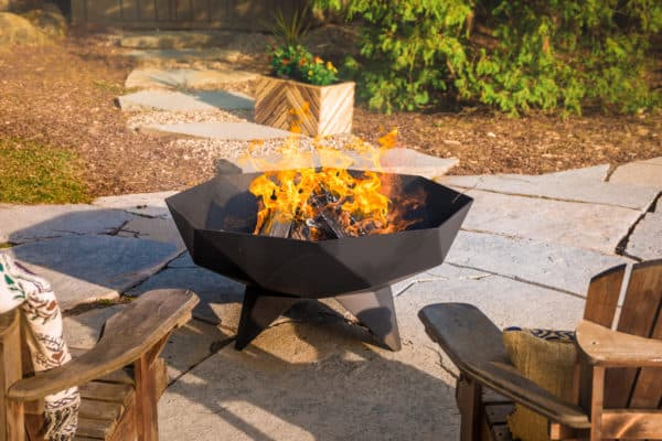 Iron embers polygon fire bowl | safe home fireplace: london & strathroy ontario