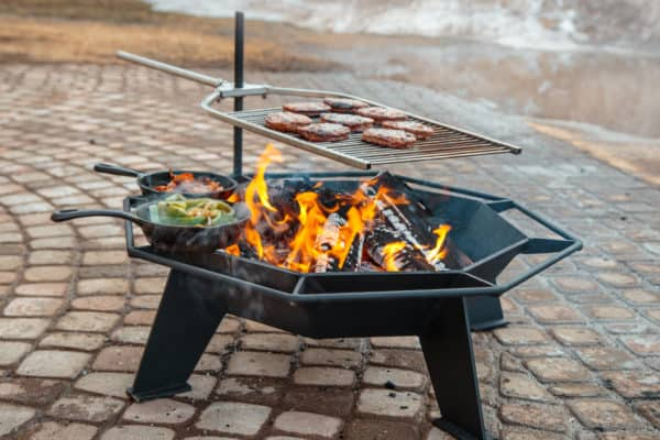 Iron embers stainless steel bbq grill attachment | safe home fireplace: london & strathroy ontario