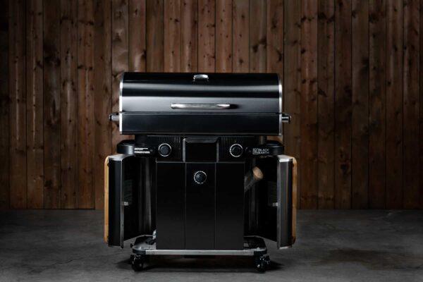 Black earth freestanding hybrid grill - gas & wood pellet | safe home fireplace: strathroy & london ontario