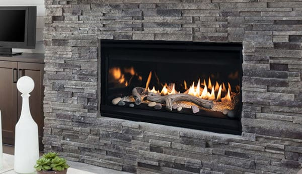 "Astria compass dlx 45"" linear gas fireplace 
