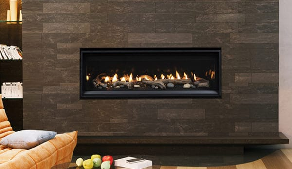 "Astria compass 45"" linear gas fireplace 
