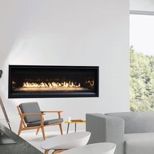 """Astria Compass 55"""" DLX Linear Gas Fireplace 