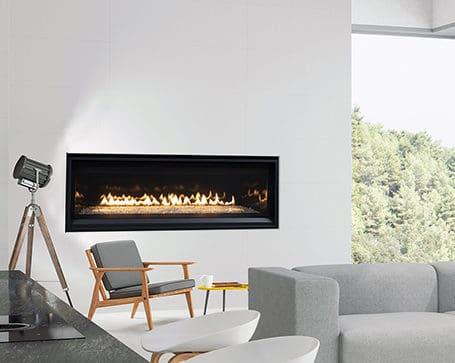 "Astria compass 55"" dlx linear gas fireplace 
