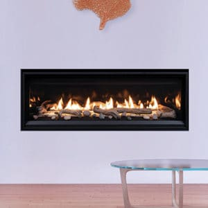 """Astria Compass 55"""" Linear Gas Fireplace 