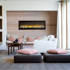 "Alluravision 50"" linear electric fireplace 
