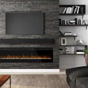 "Dimplex prism 74"" linear electric fireplace 