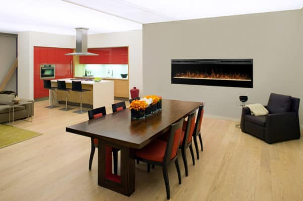 """Dimplex galveston 74"""" electric fireplace 