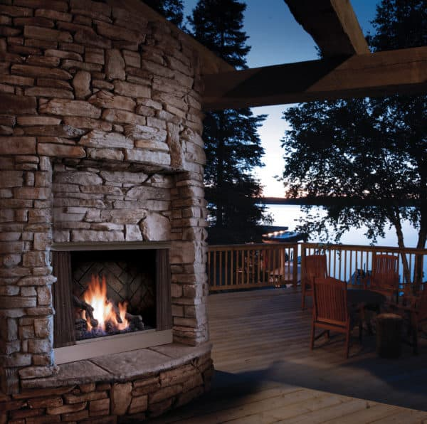 Marquis aurora outdoor gas fireplace | safe home fireplace: london & strathroy ontario