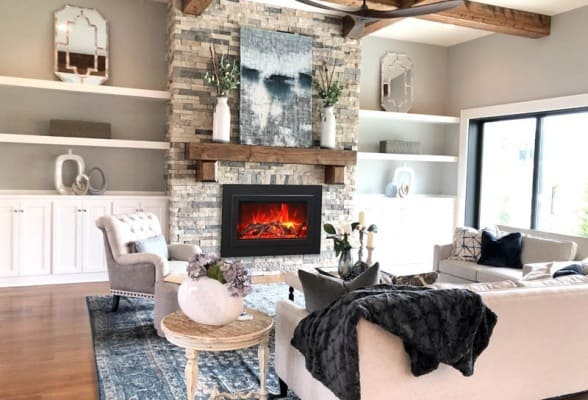 """Amantii trd 33"""" electric fireplace insert 