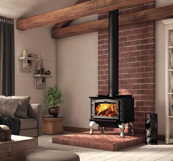 Osburn 1700 wood stove 4 image on safe home fireplace website