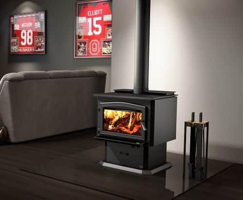 Osburn 3500 wood stove with blower 8 image on safe home fireplace website