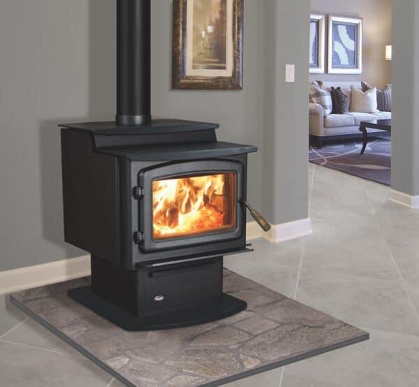 Enviro kodiak 1200 step top wood stove   safe home fireplace in london & strathroy ontario