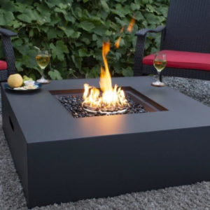 Carbon Collection Square Concrete Look Fire Table | Safe Home Fireplace in London & Strathroy Ontario