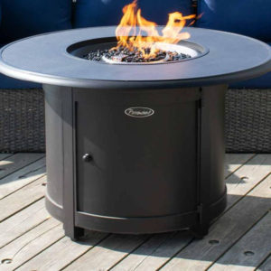 Carbon Collection Round Aluminum Fire Table | Safe Home Fireplace: Strathroy & London Ontario