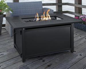 Carbon Collection Rectangle Aluminum Fire Table | Safe Home Fireplace: London & Strathroy Ontario